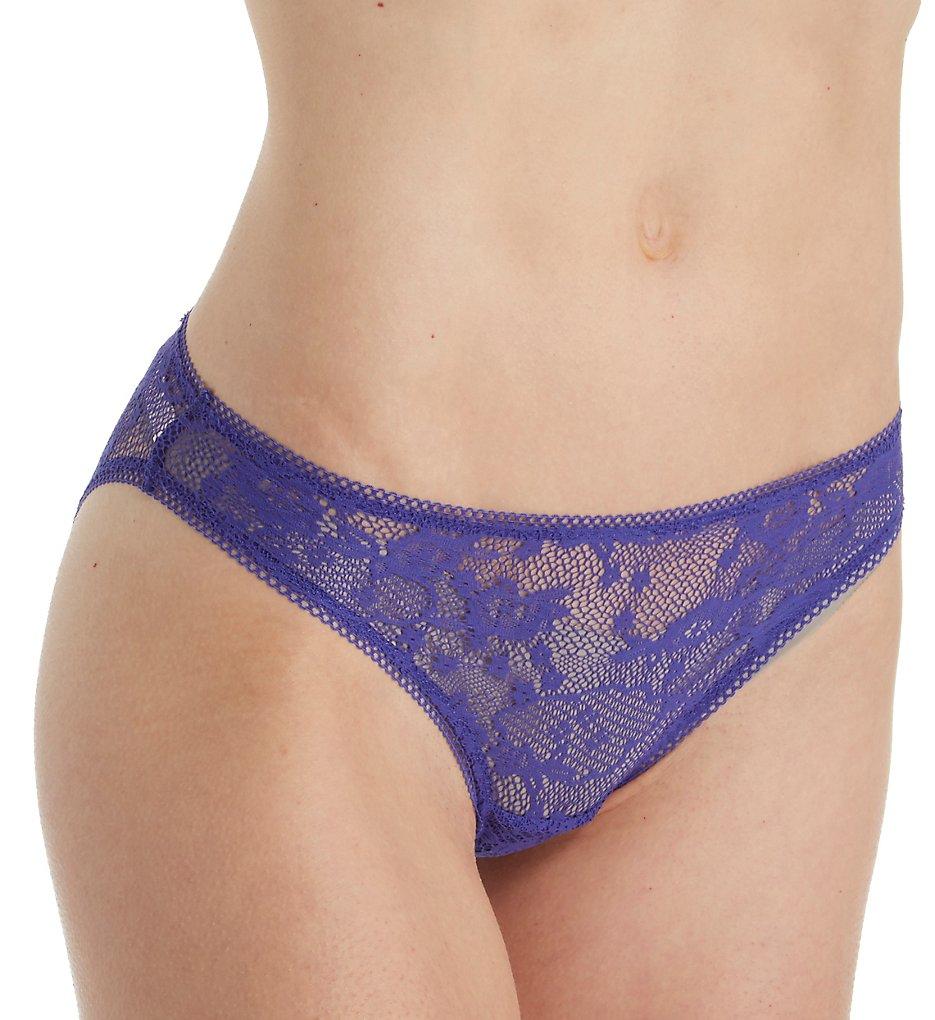 OnGossamer - OnGossamer G1160 Racy Lace Hip Bikini Panty (Lapis S)