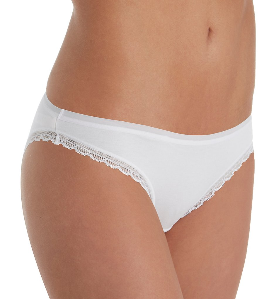 OnGossamer - OnGossamer G1161 Cabana Cotton Hip-Bikini (White S)