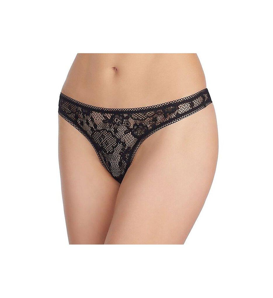 OnGossamer - OnGossamer G2160 Racy Lace Hip-G Thong (Black S)