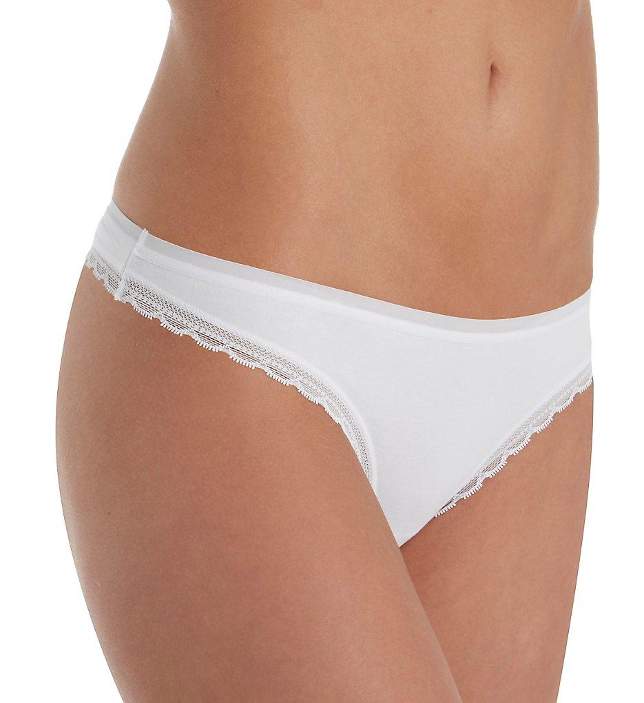 OnGossamer - OnGossamer G2161 Cabana Cotton Hip-G Thong (White S)