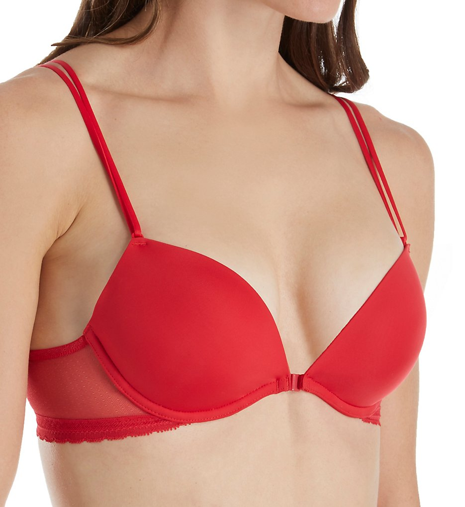 OnGossamer - OnGossamer G4180 Shadow Mesh Front Close Push Up Bra (Ruby 32A)