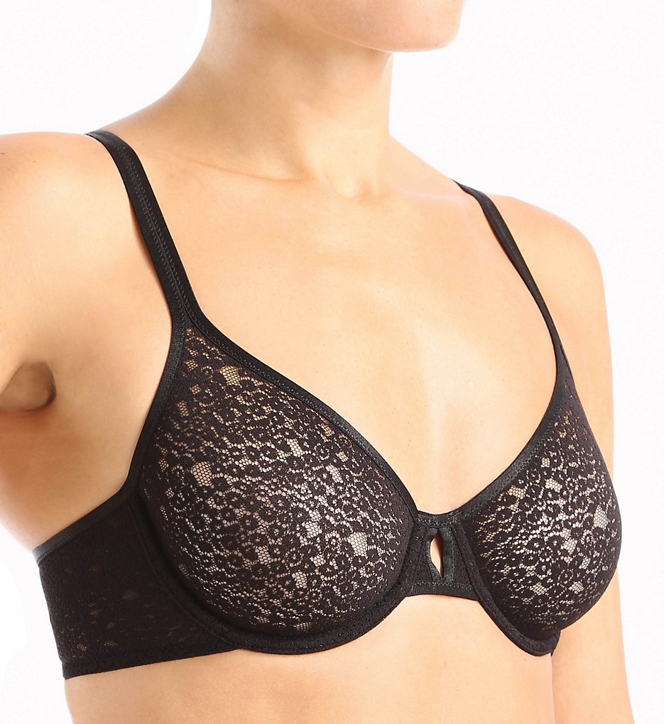 OnGossamer - OnGossamer G4977 Gossamer Mesh Optical Illusion Unlined Bra (Black 34A)