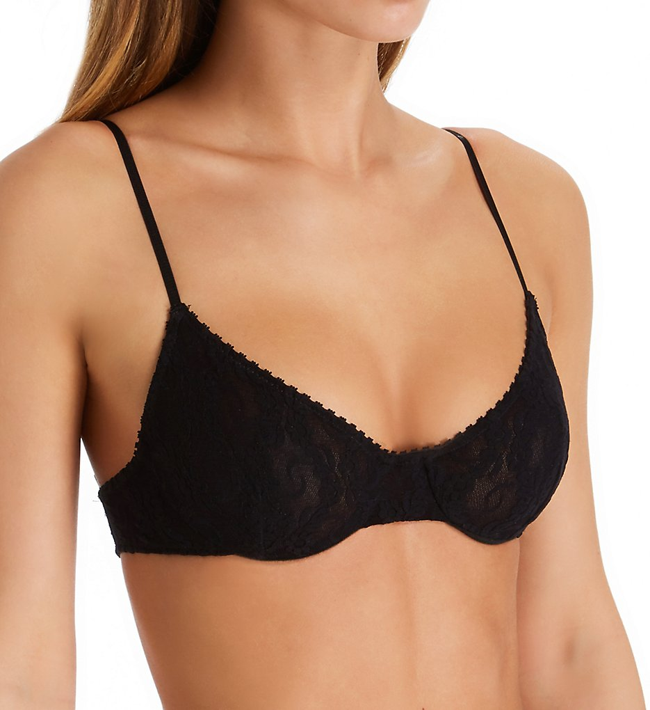 Only Hearts >> Only Hearts 1317 Stretch Lace Intimates Underwire Bra (Black S)