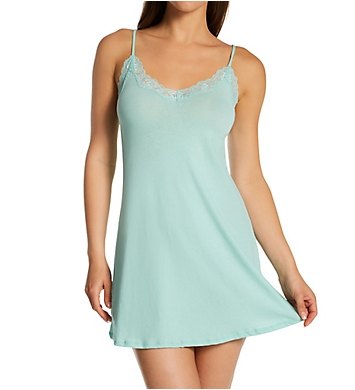 Only Hearts Organic Cotton Lace Trim Chemise