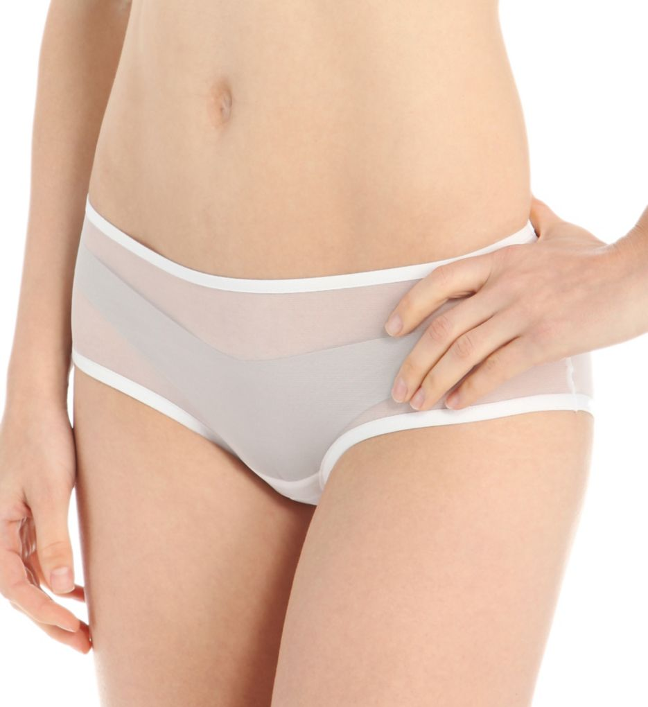 Only Hearts Italian Net Ruched Back Hipster Panty