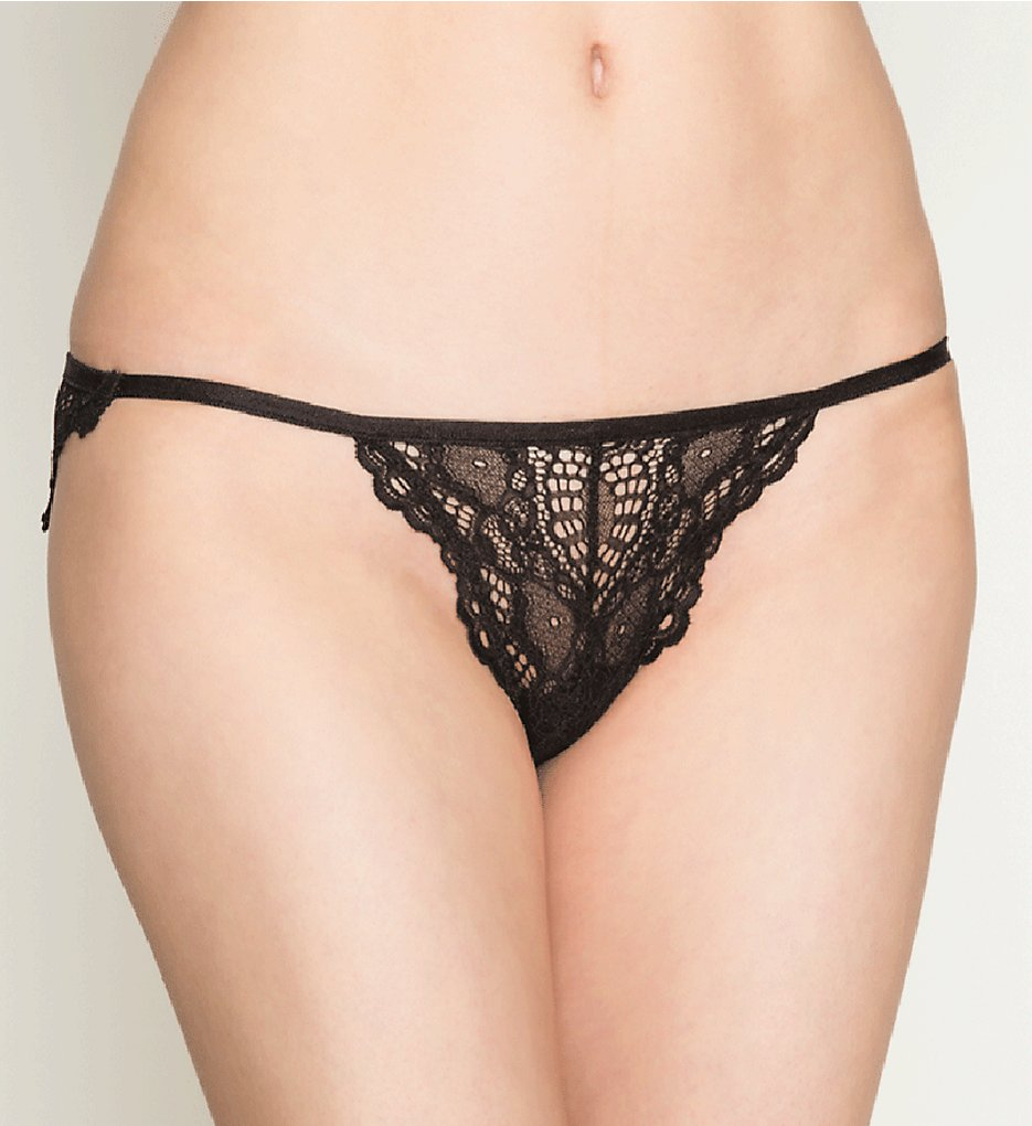 Only Hearts >> Only Hearts 51414 Whisper Sweet Nothing Lace Bikini Panty (Black S)