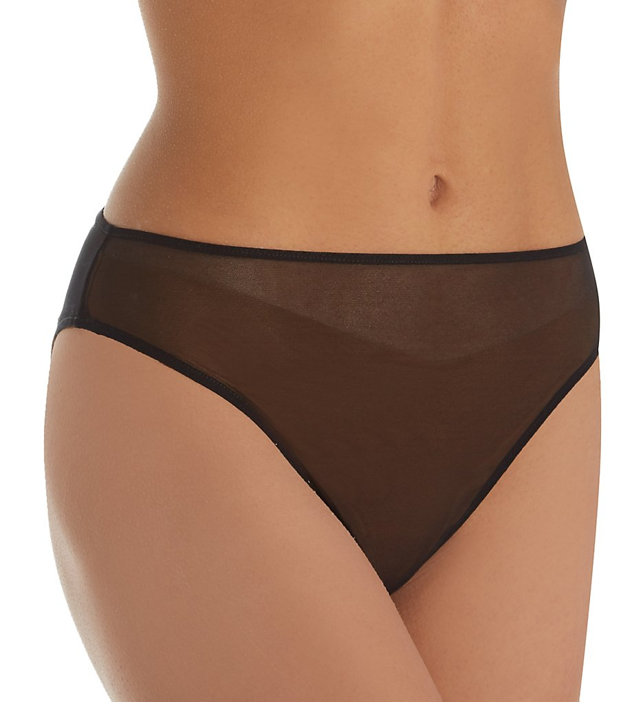Only Hearts >> Only Hearts 51626 Whisper High Cut Brief Panty (Black S)