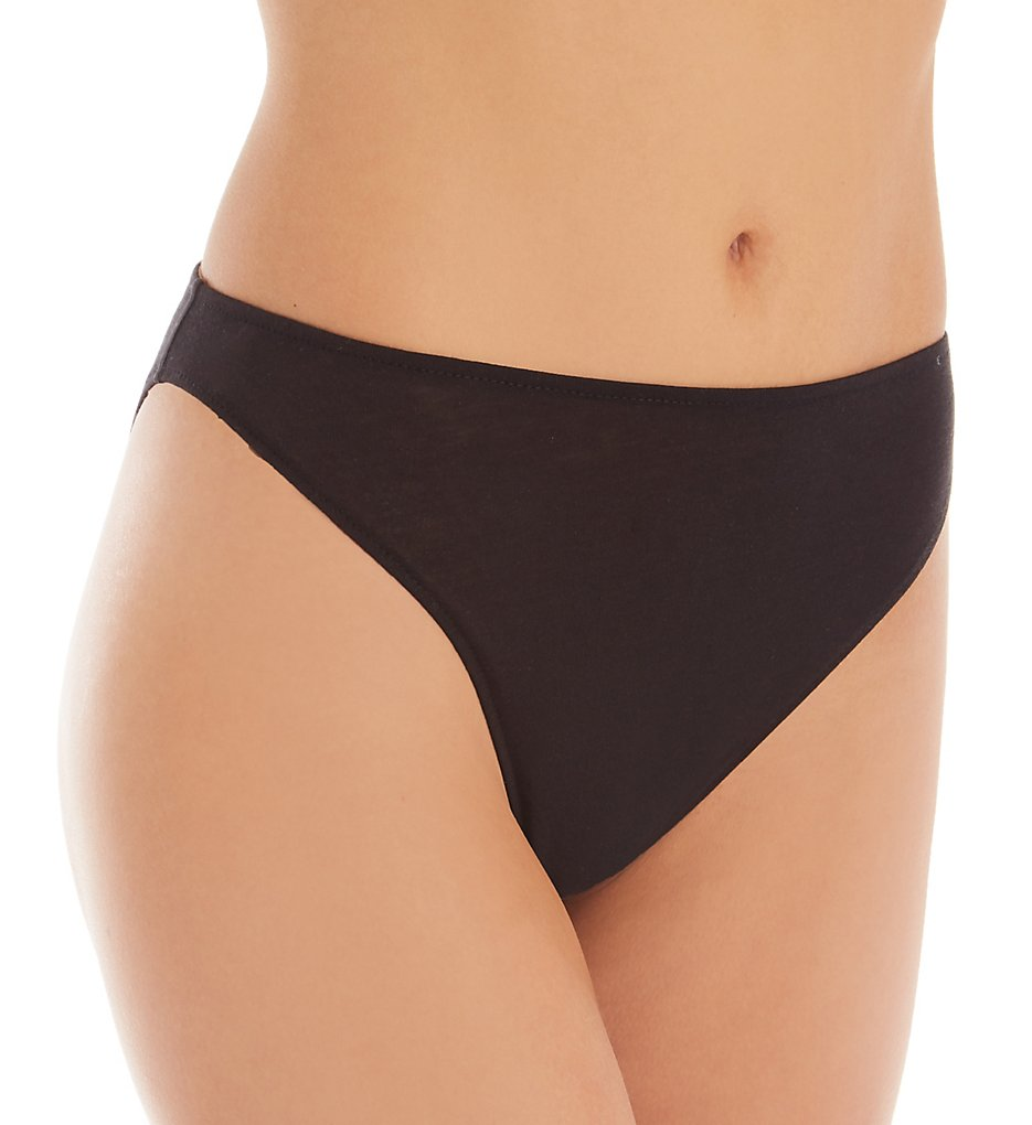 Only Hearts - Only Hearts 51663 Organic Hi-Cut Bikini Brief Panty (Black S)