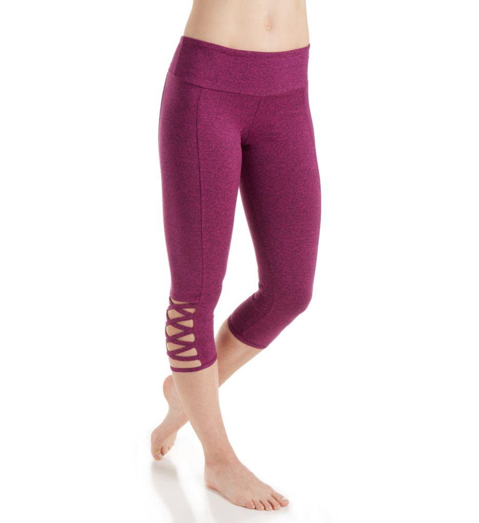 Onzie Weave Criss-Cross Detail Capri Legging