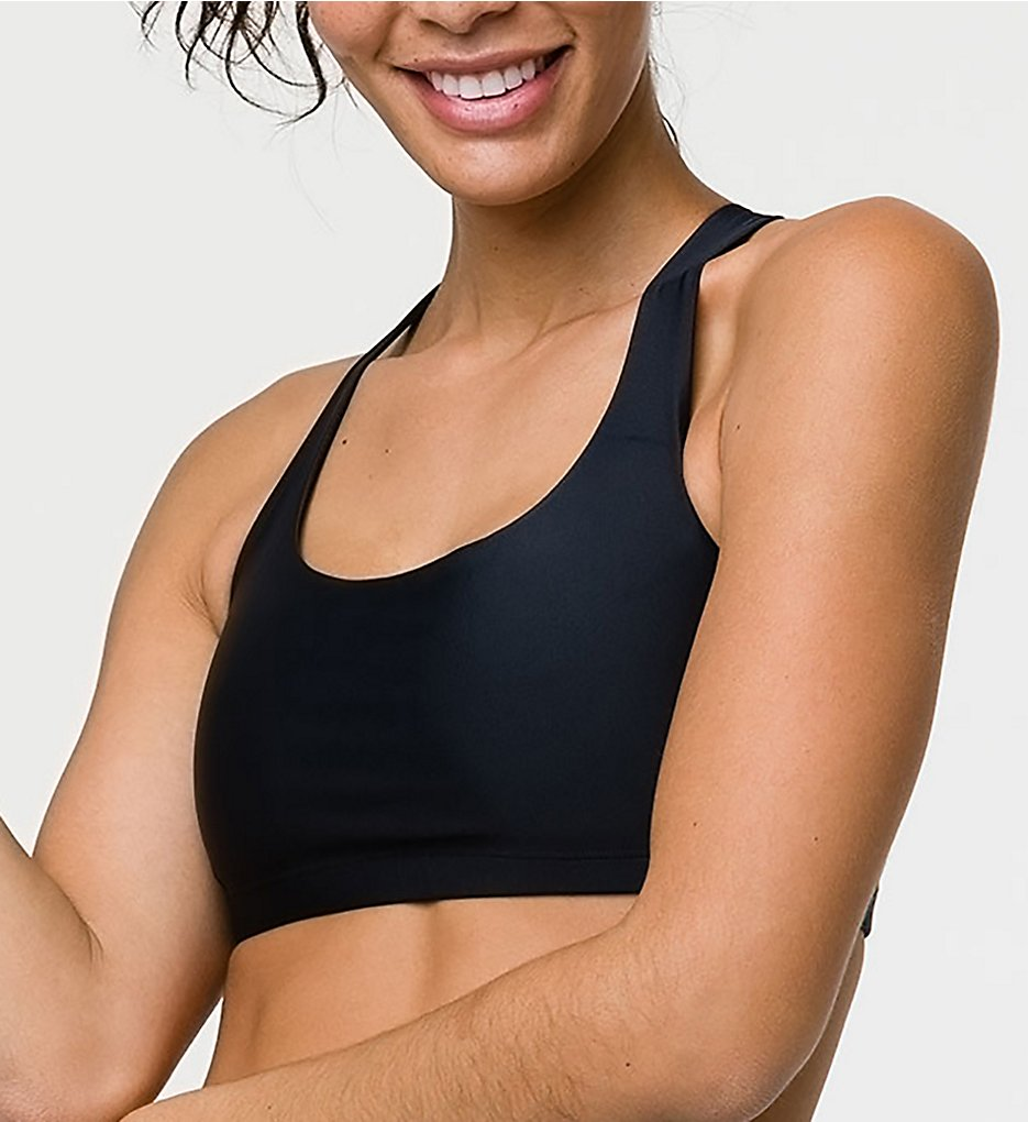 Onzie - Onzie 354 Chic Criss-Cross Strappy Back Sports Bra (Black S/M)