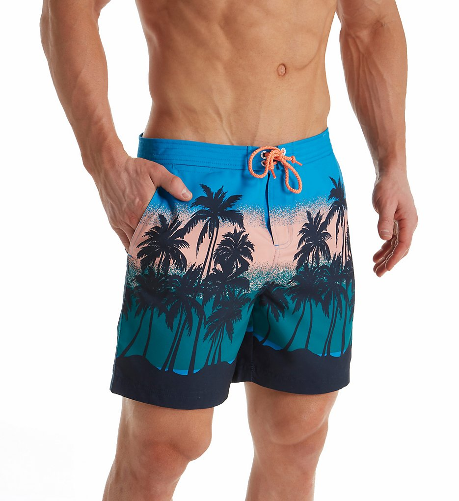 Mens Sunset Beach Printed Fixed Volley Shorts Original Penguin Sneakernews Shopping Online For Sale Cheap Price Buy Discount Manchester Great Sale Discount For Sale GYtjh9CcEB