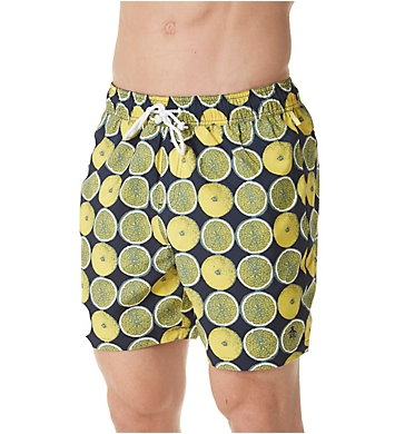 Original Penguin Reversible Lemon Volley Swim Trunk