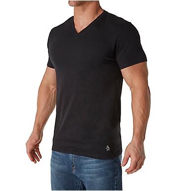 Original Penguin Slim Fit 100% Cotton V-Neck Shirt - 3 Pack