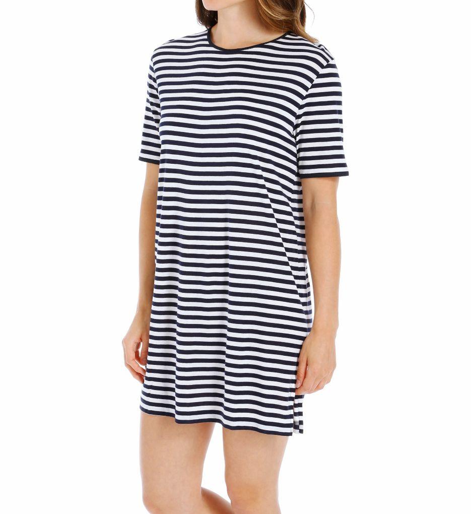 P-Jamas Marina Short Sleeve Gown