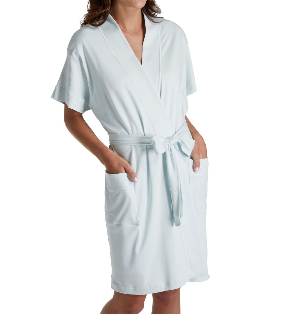 P-Jamas Butterknits Cap Sleeve Short Robe