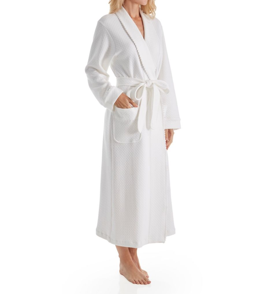 P-Jamas Quilted Basketweave Robe