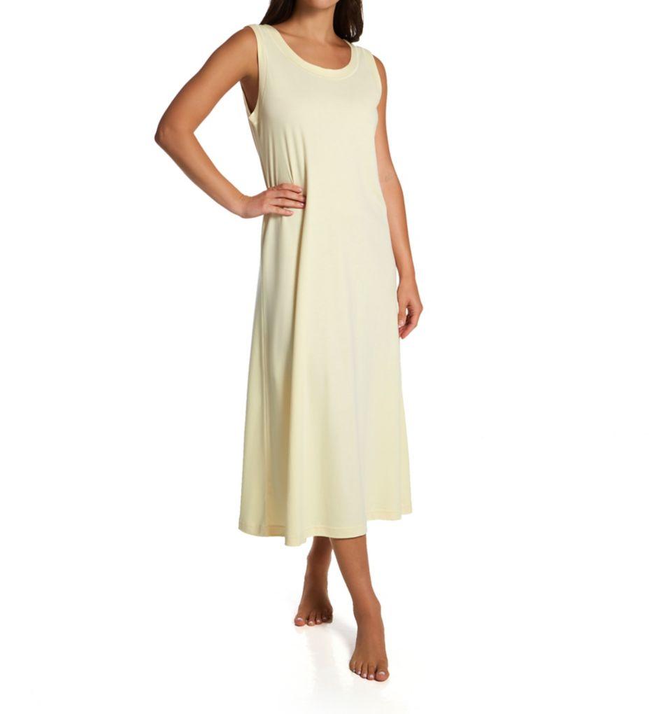 P-Jamas Ankle Length Sleeveless Butterknits Nightgown