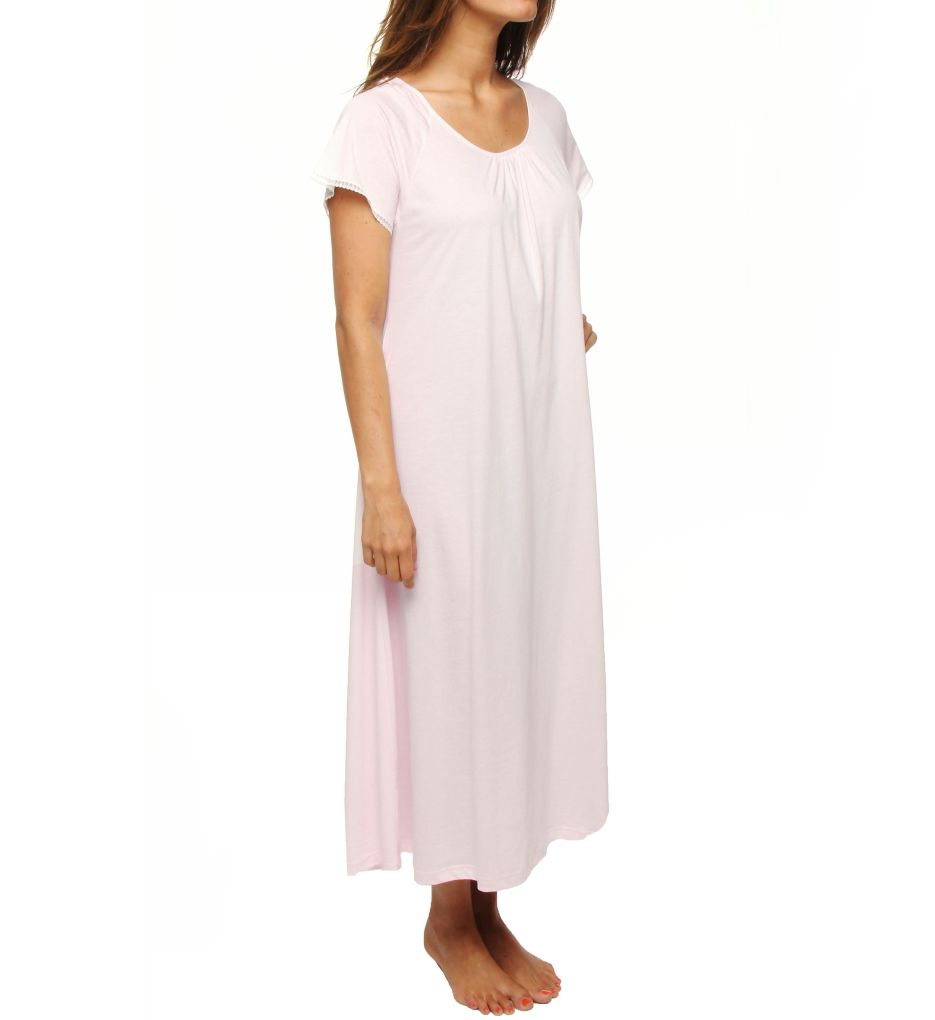 P-Jamas Lacy Jersey Short Sleeve Gown
