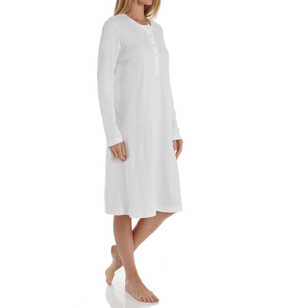 P-Jamas Butterknits Long Sleeve Button Front Gown
