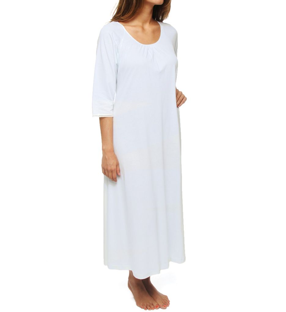 P-Jamas Lacy Jersey Long Sleeve Gown