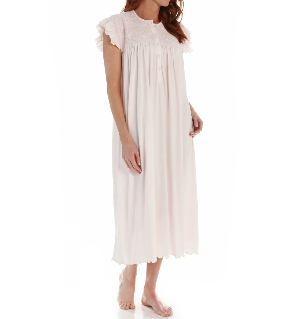 P-Jamas Daisy Smocked Cap Sleeve Nightgown