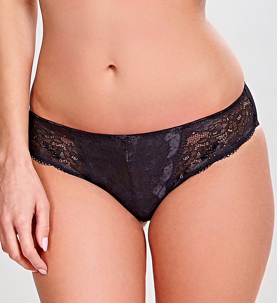Panache - Panache 7252 Clara Brief Panty (Black/Charcoal S)