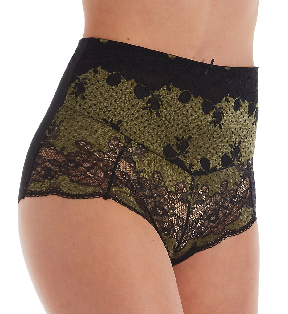 Panache - Panache 7254 Clara High Waist Brief Panty (Olive/Black XS)