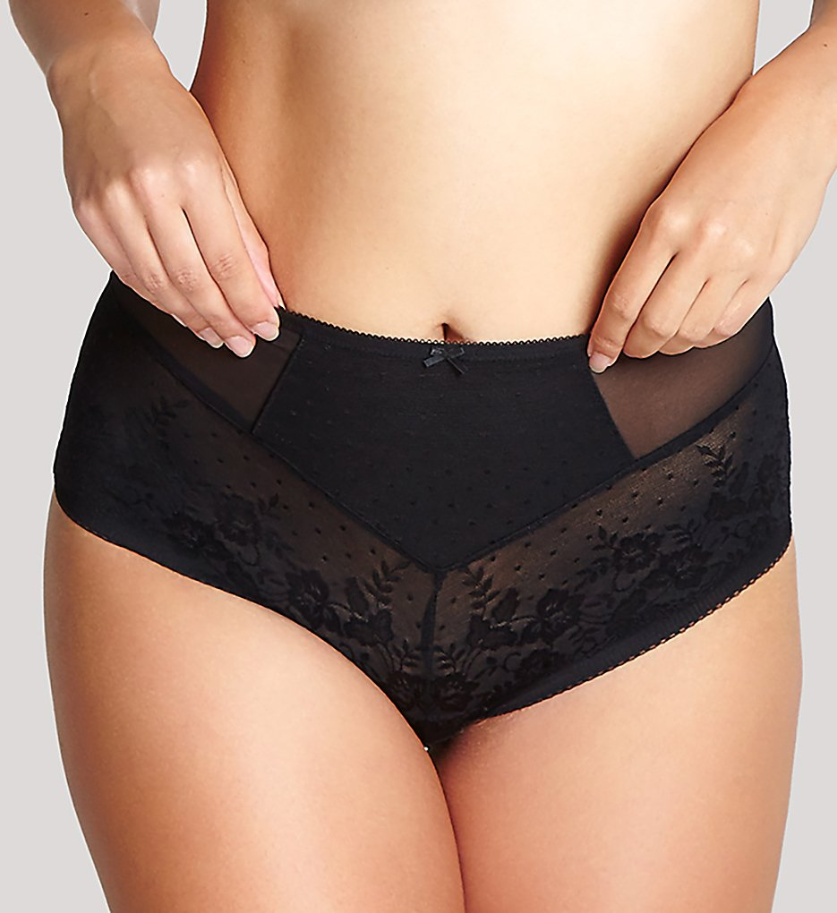 Panache >> Panache 7754 Olivia High Waisted Brief Panty (Black XS)