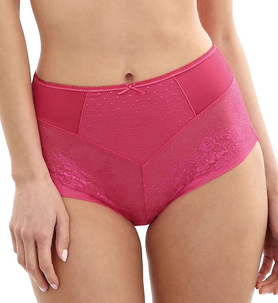 Panache - Panache 7754 Olivia High Waisted Brief Panty (Raspberry S)