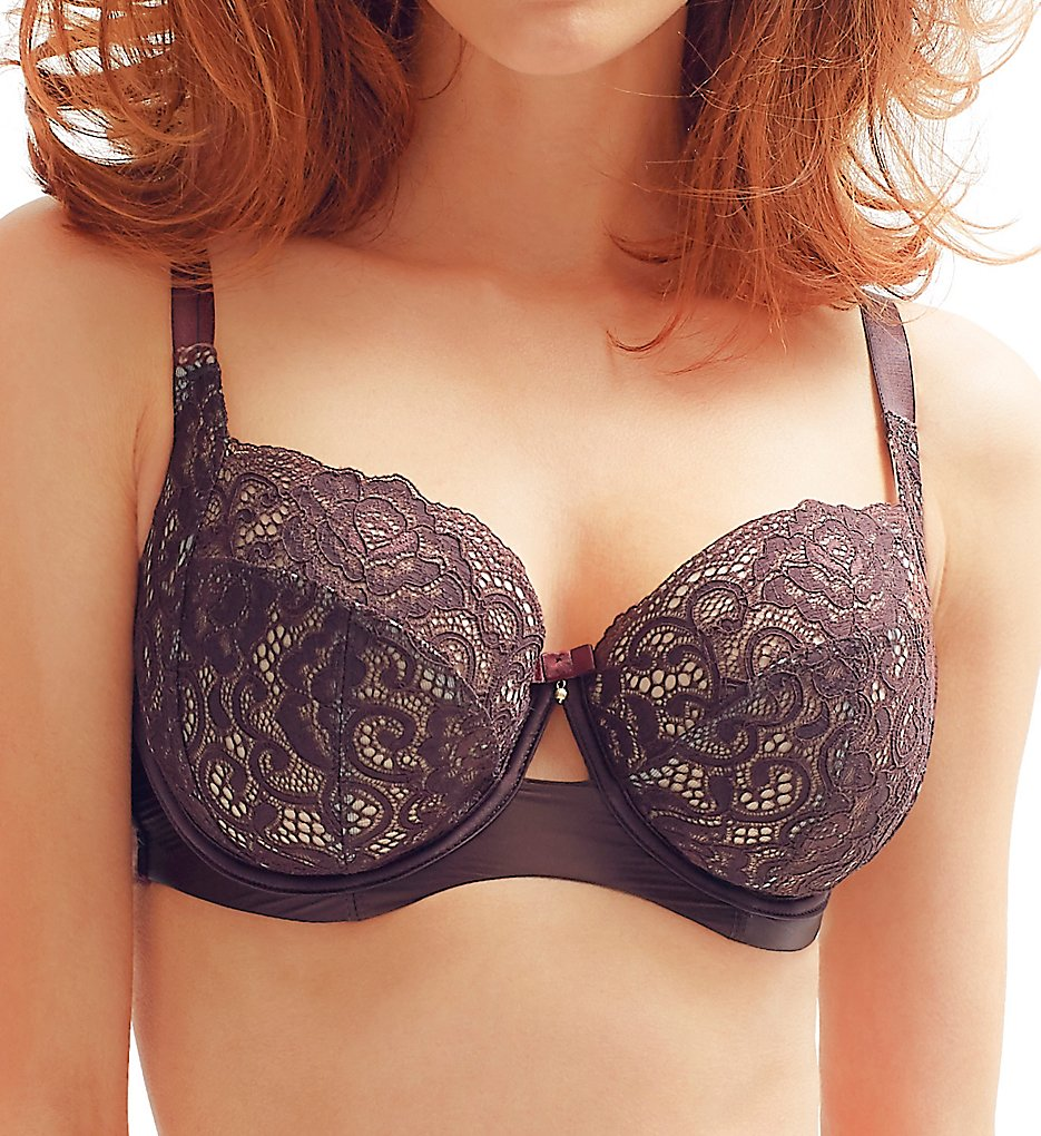 Panache - Panache 9241 Black Label Quinn Non Padded Balconette Bra (Chocolate 30FF)