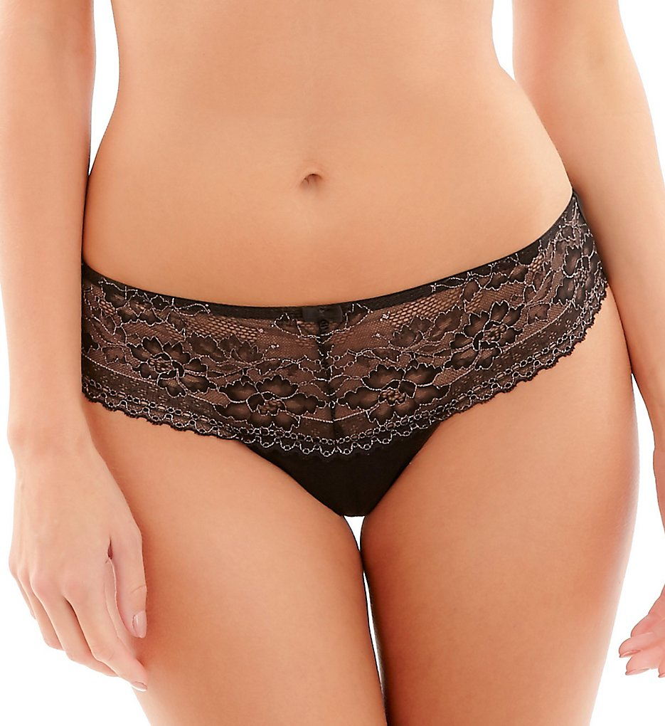 Panache - Panache 9482 Petra Brief Panty (Black/Blush XL)