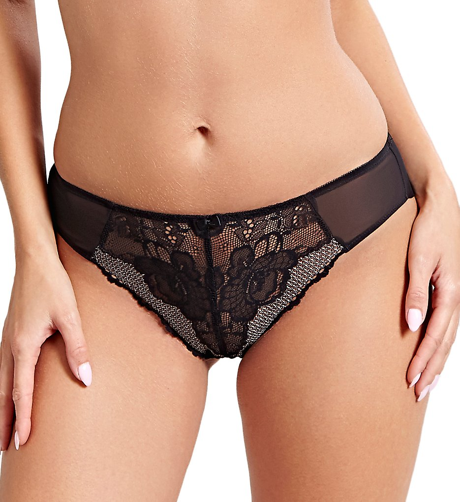 Panache - Panache 9779 Arla Brazilian Brief Panty (Black XS)
