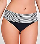Anya Stripe Folded Swim Bottom