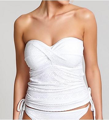Panache Anya Crochet Bandeau Tankini Swim Top