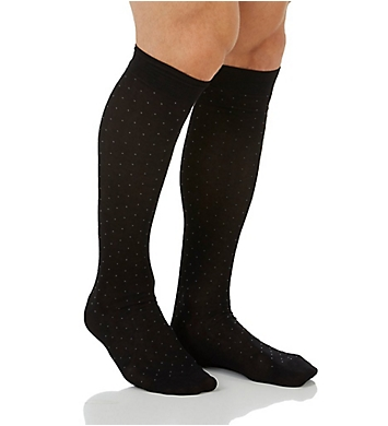 Pantherella Pindot Over The Calf Cotton Lisle Fancy Socks