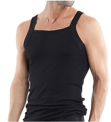 Papi Essentials 100% Cotton Square Neck Tank - 3 Pack