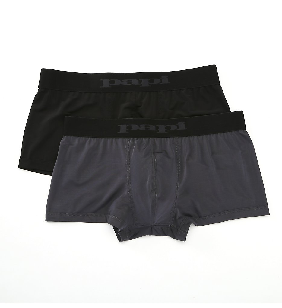 c69f0636534af3 Papi 626180 Microflex Performance Brazilian Trunks - 2 Pack (Grey Black)