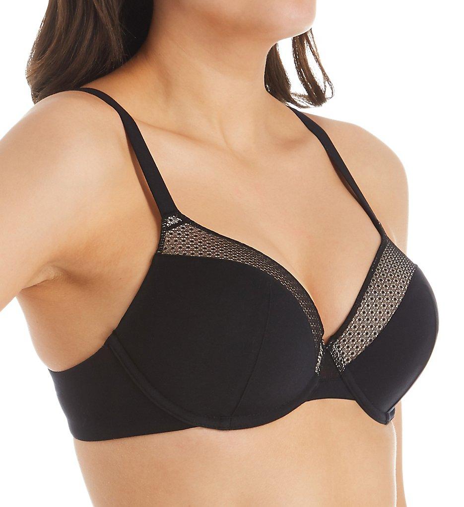 Parfait - Parfait A1671 Paige Padded T-Shirt Underwire Bra (Black 36G)