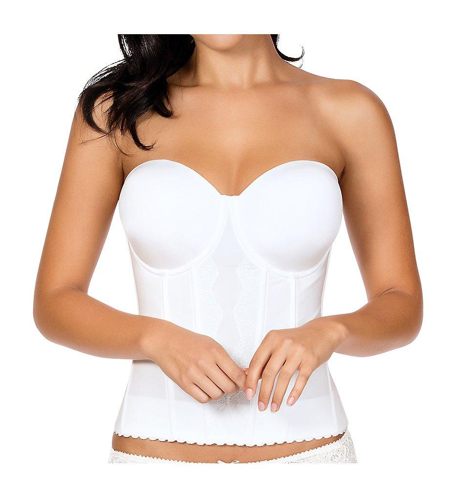 Parfait - Parfait P5017 Elissa Low-Back Bustier Bra (Pearl White 32B)
