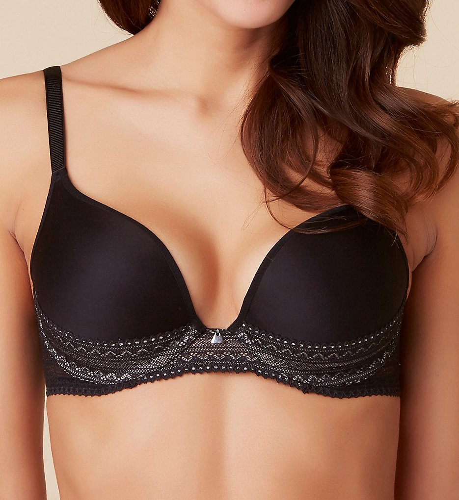 Passionata by Chantelle - Passionata by Chantelle 4052 Cheeky Push Up Underwire Bra (Black 32C)