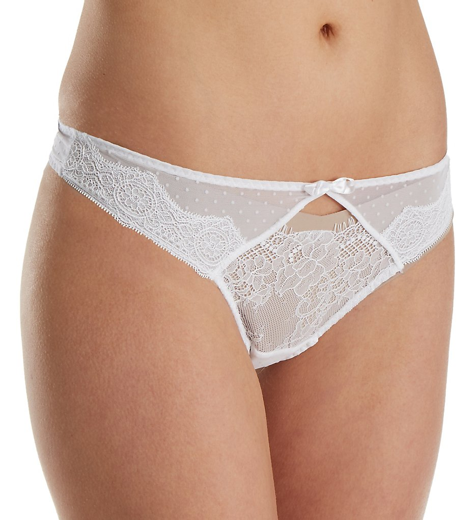 Passionata by Chantelle : Passionata by Chantelle 4867 Blossom Thong Panty (White XS)