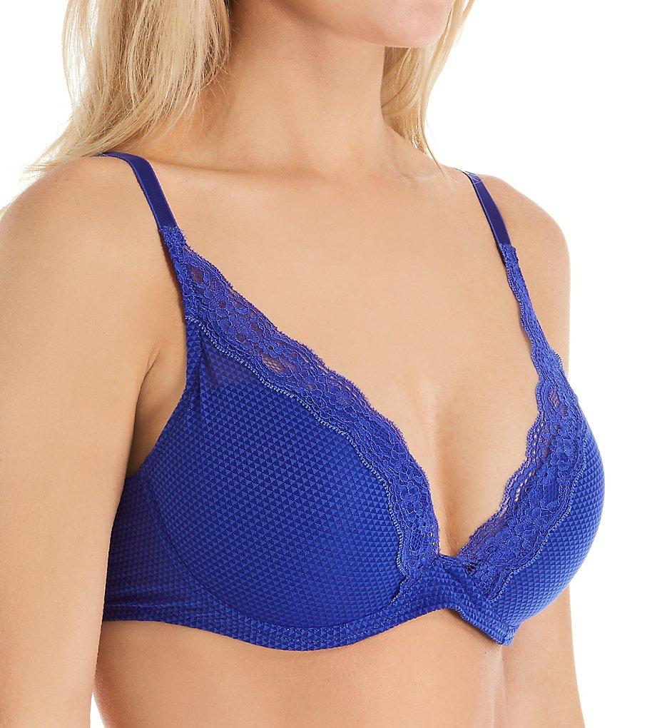 Passionata by Chantelle 5701 Brooklyn Lace Plunge T-Shirt Bra (Blue Klein)