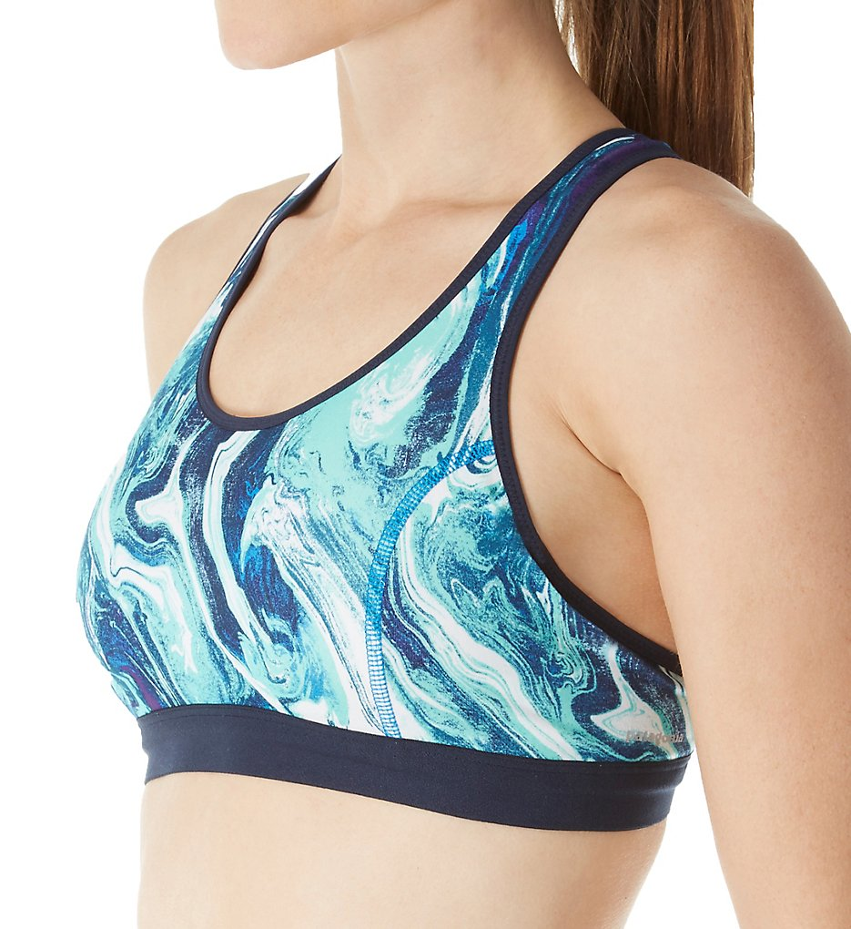 Patagonia 32065 Centered Sports Bra (Rivermouth: Andes Blue)