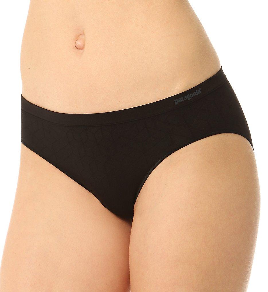 Patagonia : Patagonia 32356 Body Active Barely Hipster Panty (Geo Diamond Black XL)