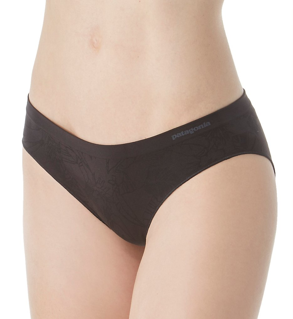 Patagonia - Patagonia 32357 Body Barely Hipster Panty (Valley Flora Black L)