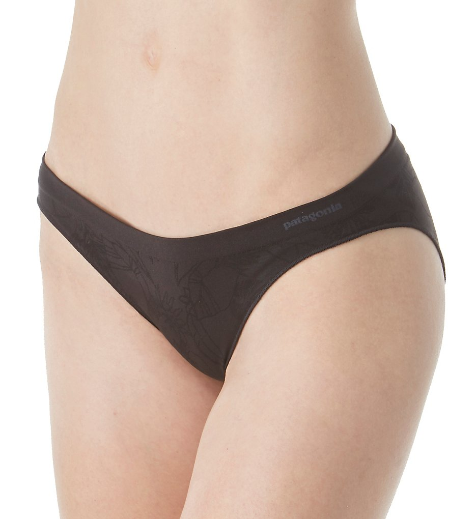 Patagonia - Patagonia 32392 Body Barely Bikini Panty (Valley Flora Black L)
