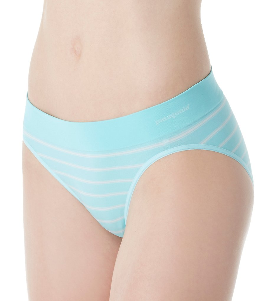 Patagonia >> Patagonia 32396 Body Active Brief Panty (Stripe Bend Blue XS)