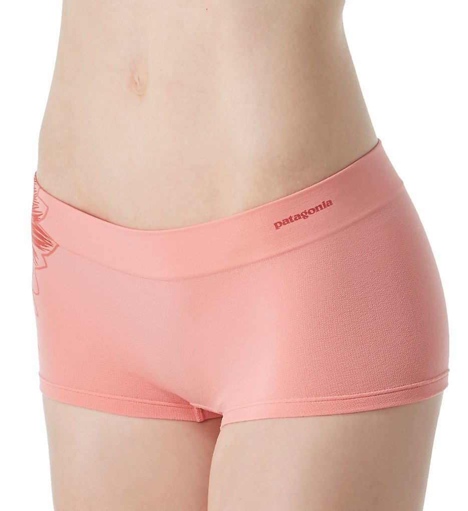 Patagonia >> Patagonia 32418 Body Active Boy Short Panty (Graphic Peak Pink L)