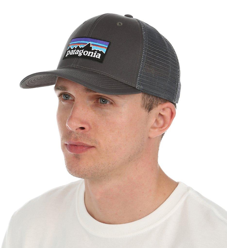 patagonia 38017 p-6 logo 100% organic cotton trucker hat (forge grey o/s)