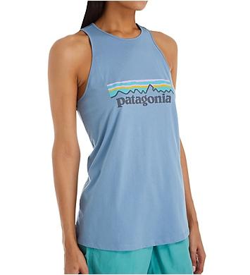 Patagonia Pastel P6 Logo Organic Cotton High Neck Tank